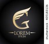 expensive golden g letter logo... | Shutterstock .eps vector #405183136