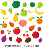 fruits in rainbow. on the white ... | Shutterstock .eps vector #405187486