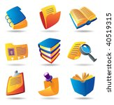icons for books and papers....