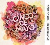cinco de mayo. cartoon vector... | Shutterstock .eps vector #405201022