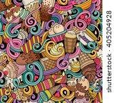 cartoon hand drawn ice cream... | Shutterstock .eps vector #405204928