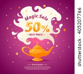 magic super sale. best selling... | Shutterstock .eps vector #405207766