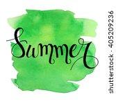 summer lettering on green... | Shutterstock .eps vector #405209236