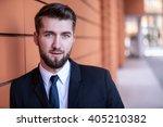 portrait of an attractive... | Shutterstock . vector #405210382