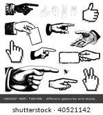 Vector Set  Hands   Different...