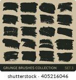 vector grunge brushes... | Shutterstock .eps vector #405216046