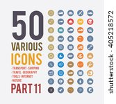 large set of simple icons on... | Shutterstock .eps vector #405218572