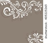 beige background with floral... | Shutterstock . vector #405225265
