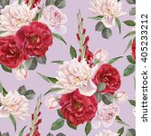 floral seamless pattern with... | Shutterstock . vector #405233212