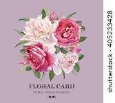 floral card. bouquet of... | Shutterstock . vector #405233428