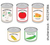 vector illustration canned food ... | Shutterstock .eps vector #405239386