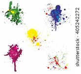splatter set | Shutterstock .eps vector #405242272