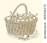 engraving wicker basket with...
