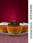 Small photo of Advertising campaign of brownie cupcakes