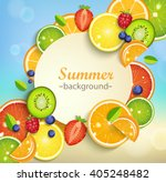 summer background with tropical ... | Shutterstock .eps vector #405248482