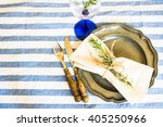 summer time table setting with... | Shutterstock . vector #405250966