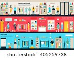 shopping center and boutique... | Shutterstock .eps vector #405259738