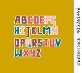unique script. vector... | Shutterstock .eps vector #405261496