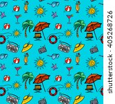 "seamless pattern ""beach... 