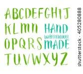 alphabet lettering in brushed... | Shutterstock .eps vector #405280888