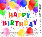 happy birthday background with... | Shutterstock .eps vector #405283405