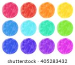 watercolor circles isolated on... | Shutterstock .eps vector #405283432