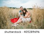 young hipster father  mother... | Shutterstock . vector #405289696