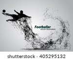 silhouette of a football player ... | Shutterstock .eps vector #405295132