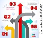 arrow business template. vector ... | Shutterstock .eps vector #405295936