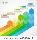 3d growing multicolor...   Shutterstock .eps vector #405300412