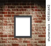 frame on the brick wall. vector ... | Shutterstock .eps vector #405301642