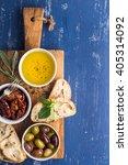 mediterranean snacks set.... | Shutterstock . vector #405314092