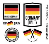 made in germany label set | Shutterstock .eps vector #405319162