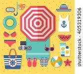 summer holidays on beach | Shutterstock .eps vector #405319306