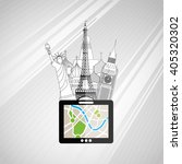 travel concept design  | Shutterstock .eps vector #405320302