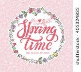 spring design handwriting...