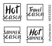 summer calligraphic.vector hand ... | Shutterstock .eps vector #405335032