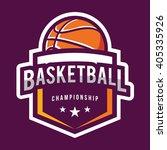basketball logo  american logo... | Shutterstock .eps vector #405335926