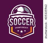 soccer logos  american logo... | Shutterstock .eps vector #405335962