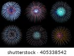 Set Of Colorful Fireworks On...