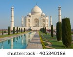 the taj mahal is an ivory white ... | Shutterstock . vector #405340186