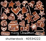 christmas gingerbread | Shutterstock .eps vector #40534222