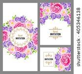 vintage delicate invitation... | Shutterstock . vector #405346138