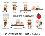 symptoms of heart disease and... | Shutterstock .eps vector #405346612