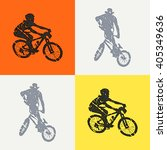 bike and bikers man... | Shutterstock .eps vector #405349636
