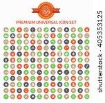 156 premium universal web icon... | Shutterstock .eps vector #405353125