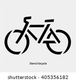 stencil bike symbol  road... | Shutterstock .eps vector #405356182
