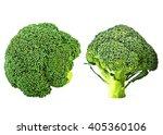 fresh broccoli isolated on... | Shutterstock . vector #405360106