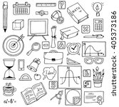 illustration of icons on a... | Shutterstock .eps vector #405373186