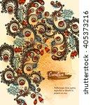 vector template corporate... | Shutterstock .eps vector #405373216